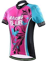 2016wsp09diseño bicicleta ciclismo conjunto de manga corta para las mujeres dama niñas, color  - Top, tamaño large