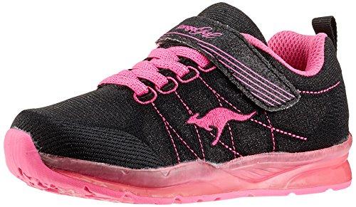 KangaROOS Unisex-Kinder Kangagirl EV SL Sneaker, Schwarz (Jet Black/Daisy Pink), 31 EU