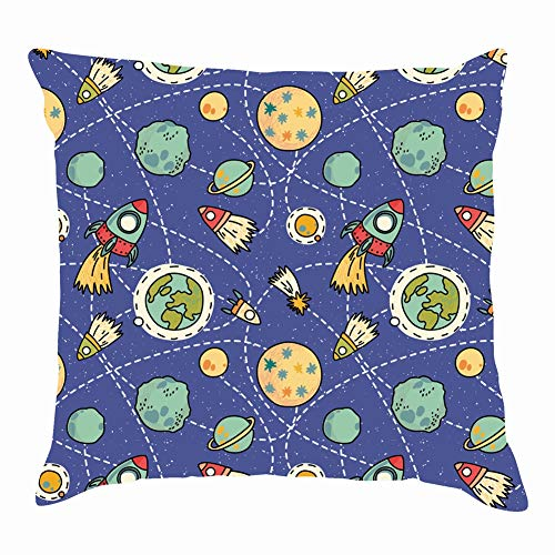 dfgi Space Rockets cometnature Throw Pillow Covers Cotton Linen Cushion Cover Cases Pillowcases Sofa Home Decor 18