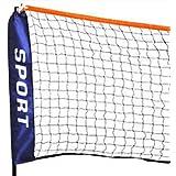 Oypla Large 5m Adjustable Foldable Badminton Tennis Volleyball Net