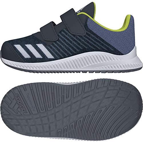adidas Unisex Baby Fortarun Cloudfoam Sneaker, Schwarz (Carbon/Silvmt/Rawste), 27 EU