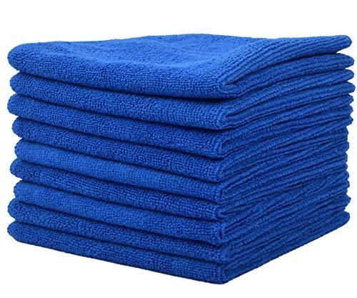 VIVOTE 9-Pack-Microfaser-Reinigungstücher Küchenlappen Mehrzweck Waschlappen Staubwischen 30 cm X 30 cm (Dunkelblau)