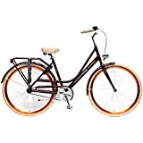 Vélo Enfant Fille Femme Classique Popal Elize 28 pouces frein avant et rétropédalage Cadre aluminium 57 cm Bordeaux 95% assemblé