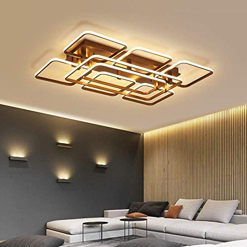 W-LI Fertige Moderne Geführte Deckenleuchten für Wohnzimmer-Schlafgemach Ausgangsbeleuchtung Deckenleuchte-Ausgangsbeleuchtungs-Befestigungen, L95Xw62Cm, Kühles Weiß (Fertig Glühlampe Wandleuchte)