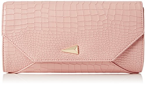 SwankySwans Damen Bruni Croc PU Leather Clutch Bag Pink Tasche, Pink (Pink), One Size (Handtasche Clutch Croc)