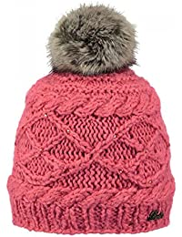 Barts-Bonnet rose corail à pompon imitation fourrure du 4 au 12 ans modèle  claire 8347e8195f7