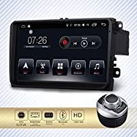 D-NOBLE 9 Zoll Bildschirm Android 6.0 Autoradio Auto Audio Spieler Stereoanlage Quadcore 2G/32G Bluetooth 4.0 Car GPS Navigation mit FM RDS WiFi Mirror Link Canbus für VW Golf Touran Passat Polo EOS