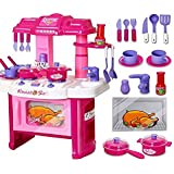 Magnifico™ 40 Pieces Big Kitchen Set Luxury Battery Operated With Sound & LED Lights, Multi Color