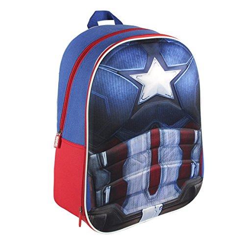 Marvel 210000156640cm Captain America 3D Effekt Anzug Rucksack (groß)