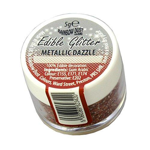 5 x Rainbow Dust Metallic Dazzle 100% Edible Cake Sparkle Glitter Sugarcraft