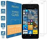 PREMYO 2 Stück Panzerglas für Microsoft Lumia 550 Schutzglas Display-Schutzfolie für Lumia 550 Blasenfrei HD-Klar 9H 2,5D Echt-Glas Folie kompatibel für Lumia 550 Gegen Kratzer Fingerabdrücke