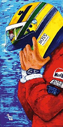 Artland Wandbilder selbstklebend aus Vliesstoff oder Vinyl-Folie Jean-Louis Glineur Ayrton Senna - Jahre bei McLaren Menschen historische Persönlichkeiten Malerei Bunt A7KA (Jeans 517)