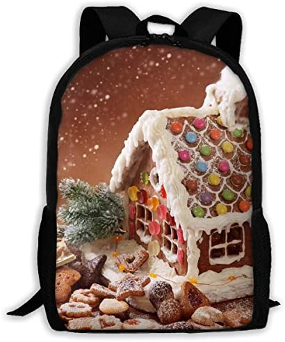 3D 3D 3D Printing Adult Shoulder Bag Gingerbread House School Backpack Bag ily Bag Hiking Bag for Men and donna | Di Qualità Dei Prodotti