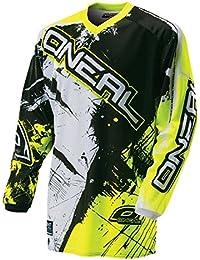 O 'Neal Element Niños MX Jersey Shocker Neon Amarillo Motocross Enduro Offroad, 0025s de 60