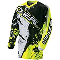O'Neal Element Kinder MX Jersey SHOCKER Neongelb Motocross Enduro Offroad, 0025S-60, Größe L