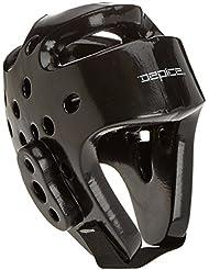 DEPICE Schutzausrüstung Kopfschutz - Casco de artes marciales, color negro, talla L