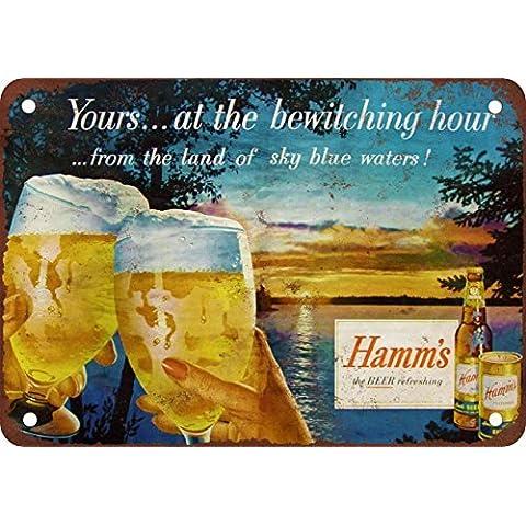 1955Hamm de cerveza Bewitching aspecto Vintage reproducción Metal Tin Sign 7X 10pulgadas