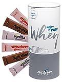 ACTIVEVITAL Whey-Protein-Pulver + 18 Flavour-Sticks | Abnehmen-Shake-Mahlzeit-Ersatz | Neutral 450g aus Deutschland