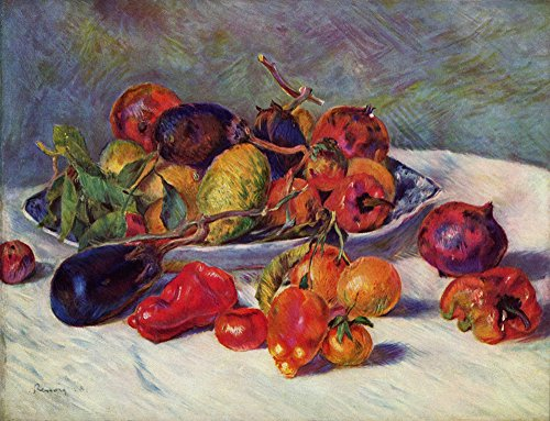Pierre Auguste Renoir - Fruit Still Life - Medium - Archival Matte - Black Frame