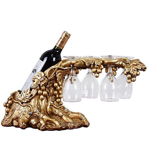 KTYXGKL Weinrebe Weinregal Weinglas Weinregal Utility Handwerk L50.5cm X W18cm X H23cm Weinflaschenständer (Weinregal, Wand-montiert Weinrebe)