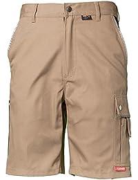 Planam Shorts Canvas 320, Größe M, khaki / schwarz, 2175048