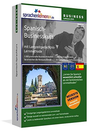 Spanisch-Businesskurs mit Langzeitgedächtnis-Lernmethode von Sprachenlernen24: Lernstufen B2+C1. Spanisch lernen für den Beruf. Software PC CD-ROM für Windows 10,8,7,Vista,XP/Linux/Mac OS X