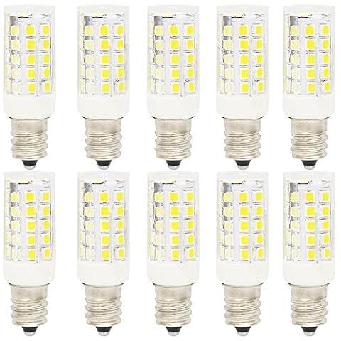 10er Pack E12 5W LED Glühbirne Birnen, mit 44 SMD 2835,Kaltweiß 6000K,AC220-240V 360 Abstrahlwinkel