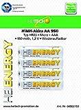 Heitech 04002193 NiMh-Akku 950 (HR03, Mikro/AAA, 950mAh)