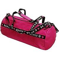 """Capezio B81 - Bolsa de deporte, diseño con texto """"Dance"""" rosa hot pink Talla:talla única"""