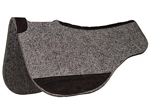 horsesaddleshop Tucker Wolle-Mischgewebe Filz Contour Pad, Grau, 703 Full Contour Cut Back