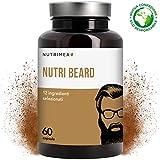Integratore Crescita Barba Uomo Plus • Cheratina Zinco Vitamina D3 B12 B6 B2 MSM • Stimola la Crescita della Barba