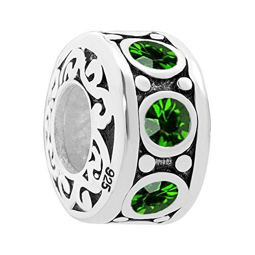 Uniqueen  -  925 Sterling-Silber  Sterling-Silber 925 Rundschliff   grün