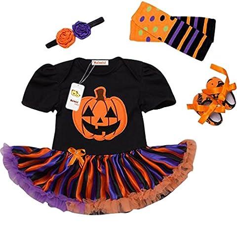 Bébé Halloween - Déguisement Halloween Bébé Fille Ensembles (Barboteuse +