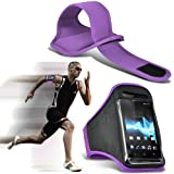 ( Light Purple ) Samsung I9300I Galaxy S3 Neo Universal Sports Lauf Jogging Ridding Bike Cycling Gym Arm-Band-Kasten-Beutel-Abdeckung von Spyrox