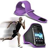 Fone-Case ( Purple ) Sony Xperia Z1 Hülle Abdeckung Cover Case schutzhülle Tasche Brand New Sport Armbänder mit dem Fahrrad Radfahren Fitnessstudio Joggen abzugewöhnen Armband Case Abdeckung