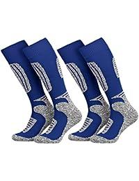 Tobeni 2 pares de calcetines de esqui de snowboard para los hombres y las mujeres en 4 colores