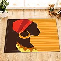 LB Fille africaine dans le désert, thème de la femme africaine tapis de salle de bain/moquette,40 × 60 CM