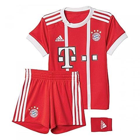 Bayern Munich 17/18 Bébés - Kit de Foot Réplique Domicile - Rouge/Blanc - taille 18-24 Months