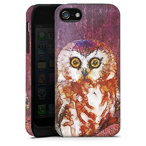 Apple iPhone X Silikon Hülle Case Schutzhülle Eule Owl Wasserfarbe Tough Case matt