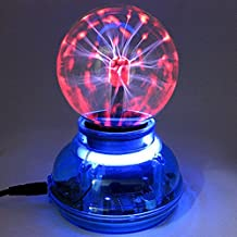 Auntwhale Lámpara de escritorio de la esfera de la luz de la mariposa de la bola de plasma mágica LED de 3 pulgadas Magic Powered Powered