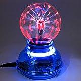Kicode Plasma Ball Sphere Ball Lightning Light [Touch Sensitive] 3 pouces Nebula Sphere Globe Nouveauté Toy-USB ou batte