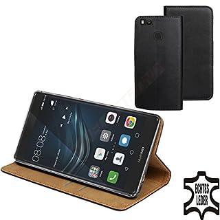 MOELECTRONIX ECHT Leder Buch Klapp Tasche Schutz Hülle Flip Case Etui für Huawei P9 Lite VNS-L01 L21 L31