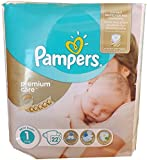 22 PAMPERS WINDELN , Premium Care Gr.1 2-5 Kg, NEW BABY, NEWBORN mit Urin-Indikator