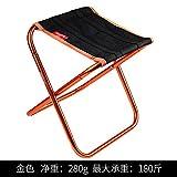WXZB Faltbarer Stuhl Portable Klappstuhl Mini Mazar Erwachsenen Klappbank orange Schlange Artefakt Angeln Stuhl