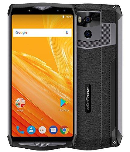 Ulefone Power 5 - 6 pollici (rapporto 18: 9) FHD + 4G Smartphone Android 8.1, batteria 13000mAh, supporto carica wireless, Octa Core 2.0 GHz 6 GB + 64 GB, Quattro fotocamera, Riconoscimento facciale,