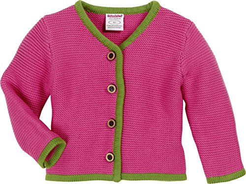 Schnizler Baby-Mädchen Strickjacke Cardigan, Strickjanker mit Knopfleiste, Rosa (Pink 18), 74