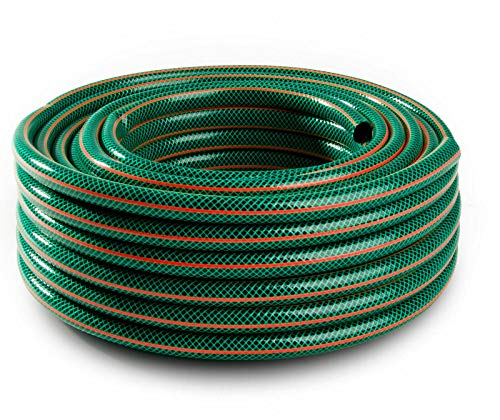 """naka24 4 Lagig Green-Plus 1/2\"""" 3/4\"""" 1\"""" Zoll 20/25/30/50 Gartenschlauch Wasserschlauch (1\"""" 25m 378932)"""