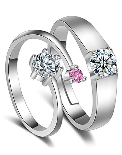 Karatcart Platinum Plated Couple Ring For Women & Men