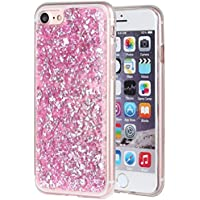 iPhone 7 Case, Ranrou Luxury Bling Glitter Sparkle [Gold Foil