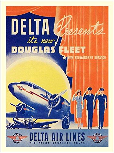 delta-air-lines-douglas-dc2-air-travel-poster-1940s-30x40cm-art-print